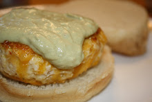 Chicken Chipotle Burger With Avocado Sauce