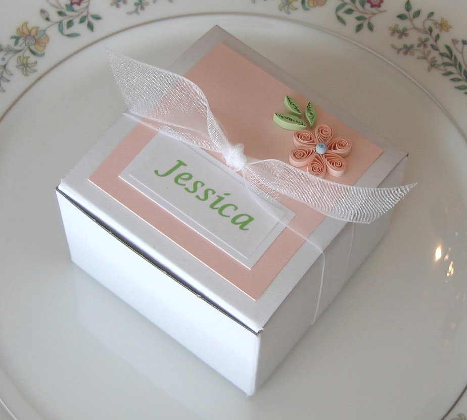 All Things Paper Quilled Place Card And Favor Box
