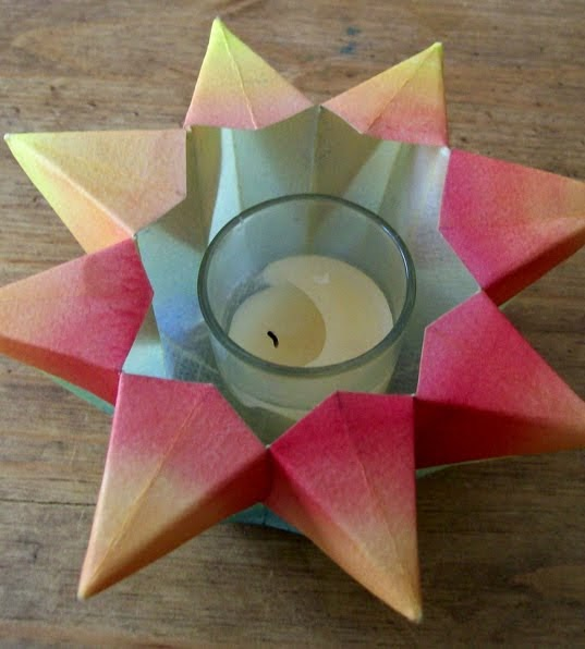 All things paper star lanterns and more for How to make paper lamp step by step