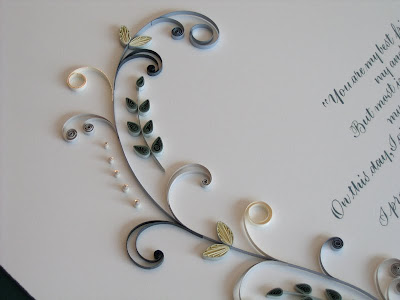 Marriage certificate - quilled scroll design