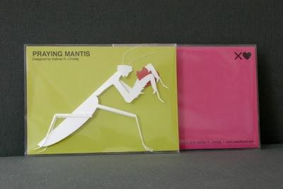 Cut Paper Praying Mantis