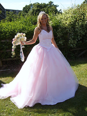 Pink Princess Wedding Dress