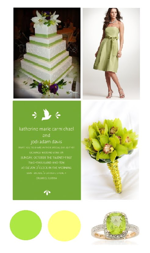 Apple green wedding invitations via ModernGirlInvitationscom