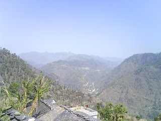 View of Khala Gaon and Taili Pakholi from Village Kanda Malla