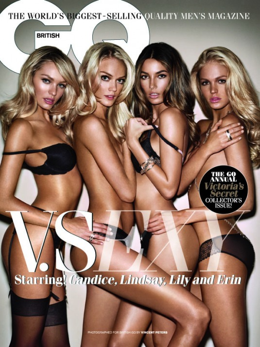Model Talk: Victoria's Secret Bombshells for British GQ
