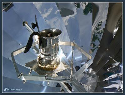 Lampadaire en acier chrom ASTRA ARC