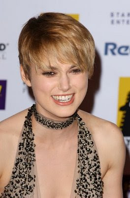 Keira Knightley Short Pixie Hairstyles