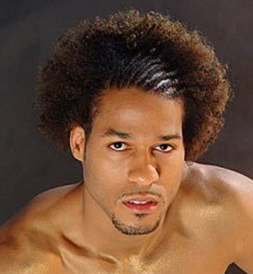 modern mens hairstyle. Modern afro hairstyle