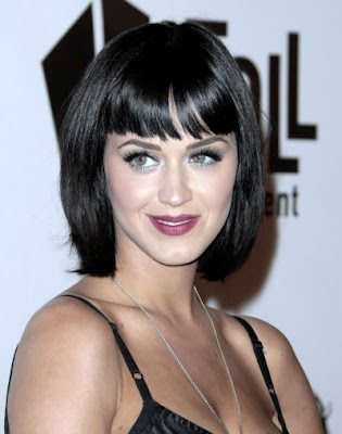 at one of the parties, Katy Perry displayed her new spring hairstyles.