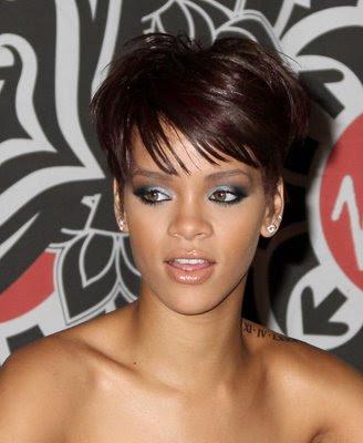 rihanna haircut. Rihanna gorgeous pixie hair