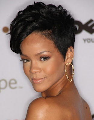 Short Hairstyles For Women 2009. Rihanna Short Straight Haircut