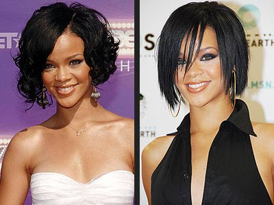 bob hairstyles for 2009. Rihanna