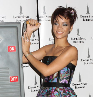 Rihanna, aged 20, is a top hit singer and fashion model.