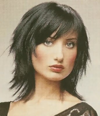 short haircuts for girls with bangs. Short Trendy Shag Haircut