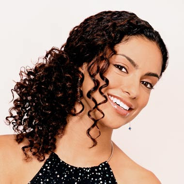 hairstyles for very curly hair. Model Hair Style: This model has long, curly