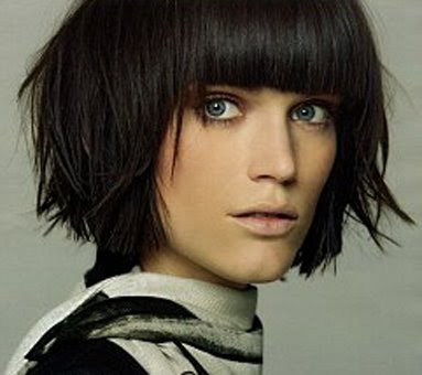 Female Short Hairstyles. Rihanna. Short To Medium Black Straight Hair Style
