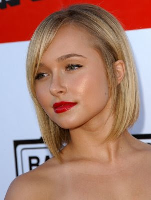 Photo of blonde concave bob hairstyles.