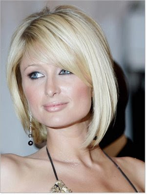 The Paris Hilton Angled Bob is one of the more popular bob hairstyles for