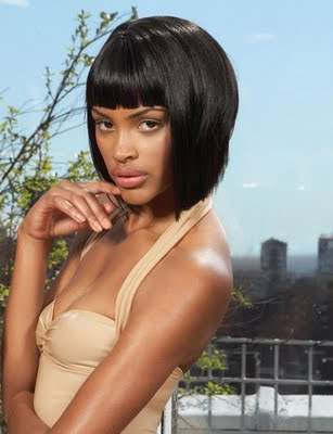 hairstyles that can go the. African American Medium Length Blunt Bob