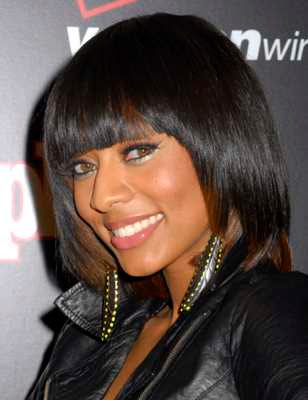 Keri Hilson Hairstyles Blonde. round shaped face hairstyles