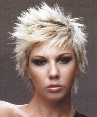 Some most common colors used in punk hairstyles are red, green, blue,