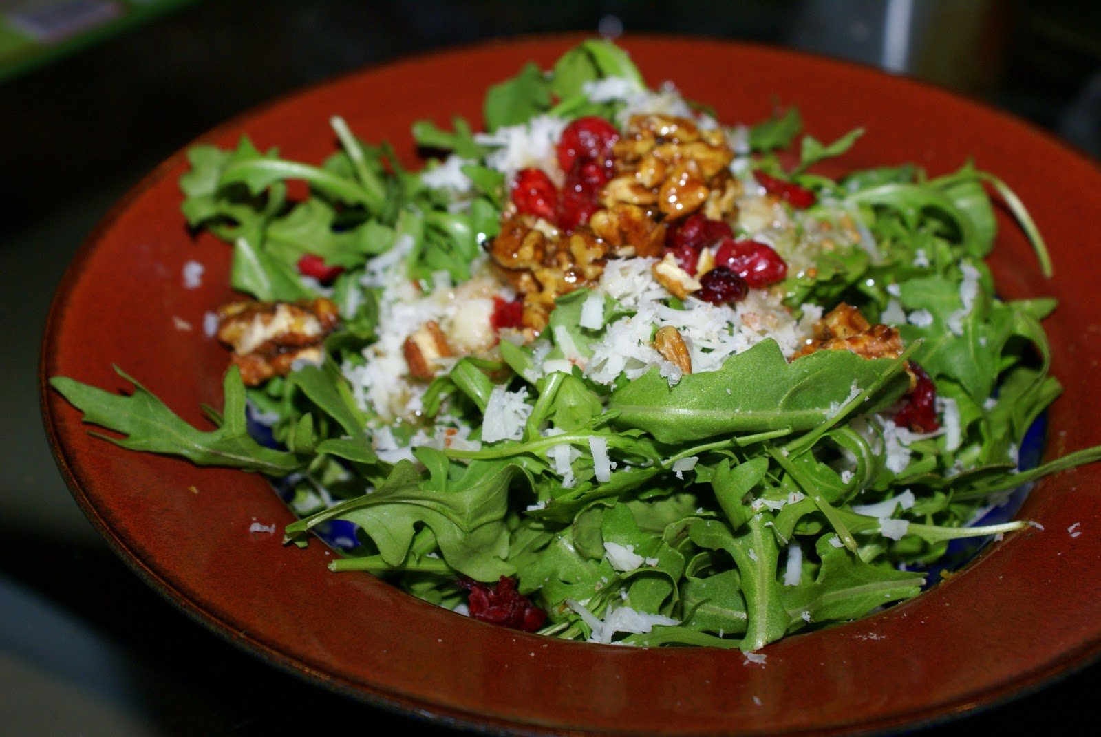 ... Salad with Manchego, Savory Praline and Whole Grain Mustard Dressing