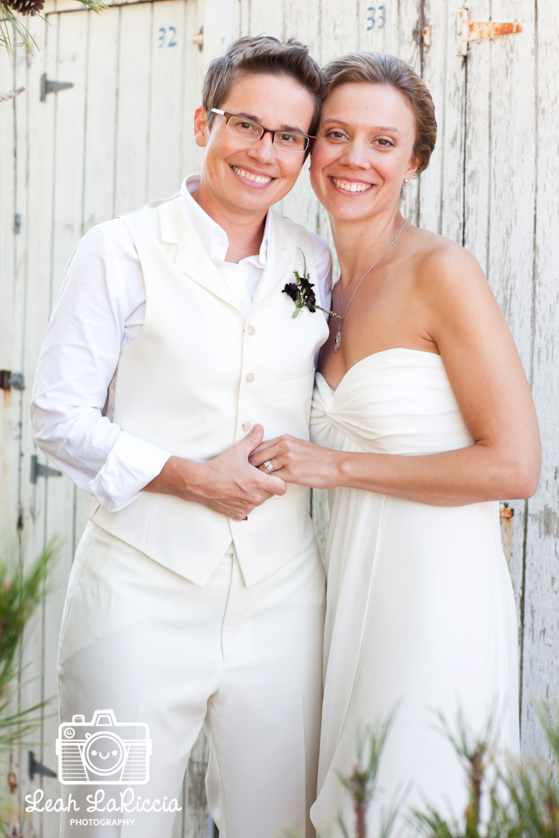 cape cod lesbian wedding a bicycle built for two