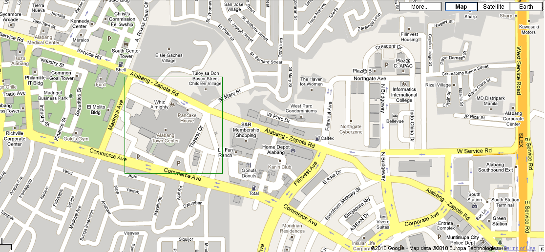 Alabang Town Center Map