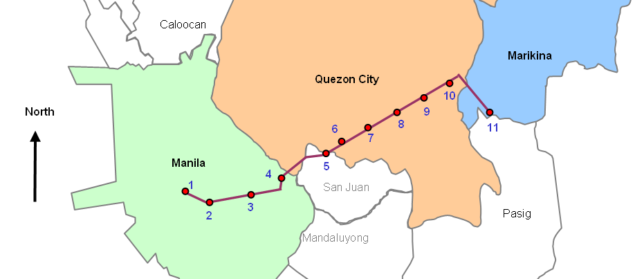 The Light Rail Transit Line 2 LRT 2  Directions Routes Maps