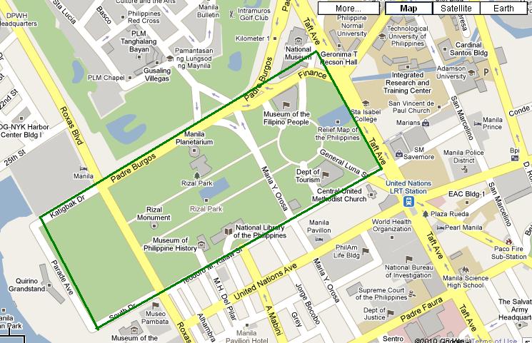 Manila Landmarks Map - Us landmarks map