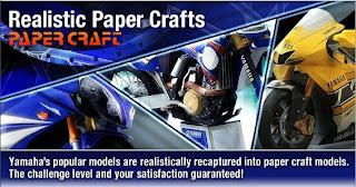 yamaha origami29 Papercraft   Assemble Yamaha Motor Sport With Paper