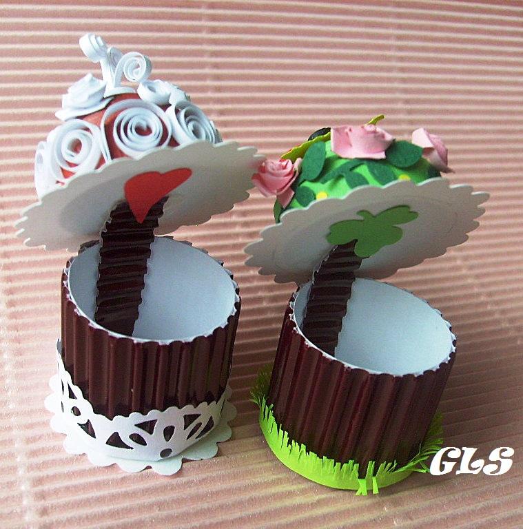 Как сделать пирожное из бумаги