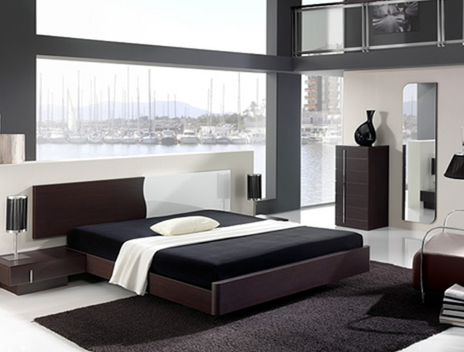 simplicity of contemporary bedroom design