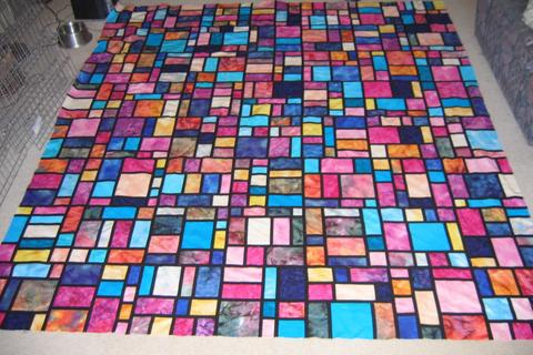 CRAZY STAINED GLASS QUILT PATTERN Quilts & Patterns