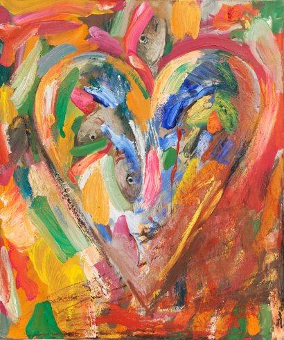 Jim Dine Hearts Paintings Portfolio of ten