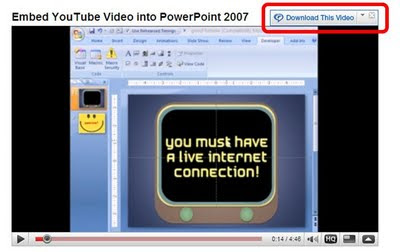 Zaidlearn 2 juicy ways to insert youtube videos into powerpoint today we should think of internet as oxygen for learning and if it is not there then we have to find other ways to breath like showing videos offline ccuart Gallery