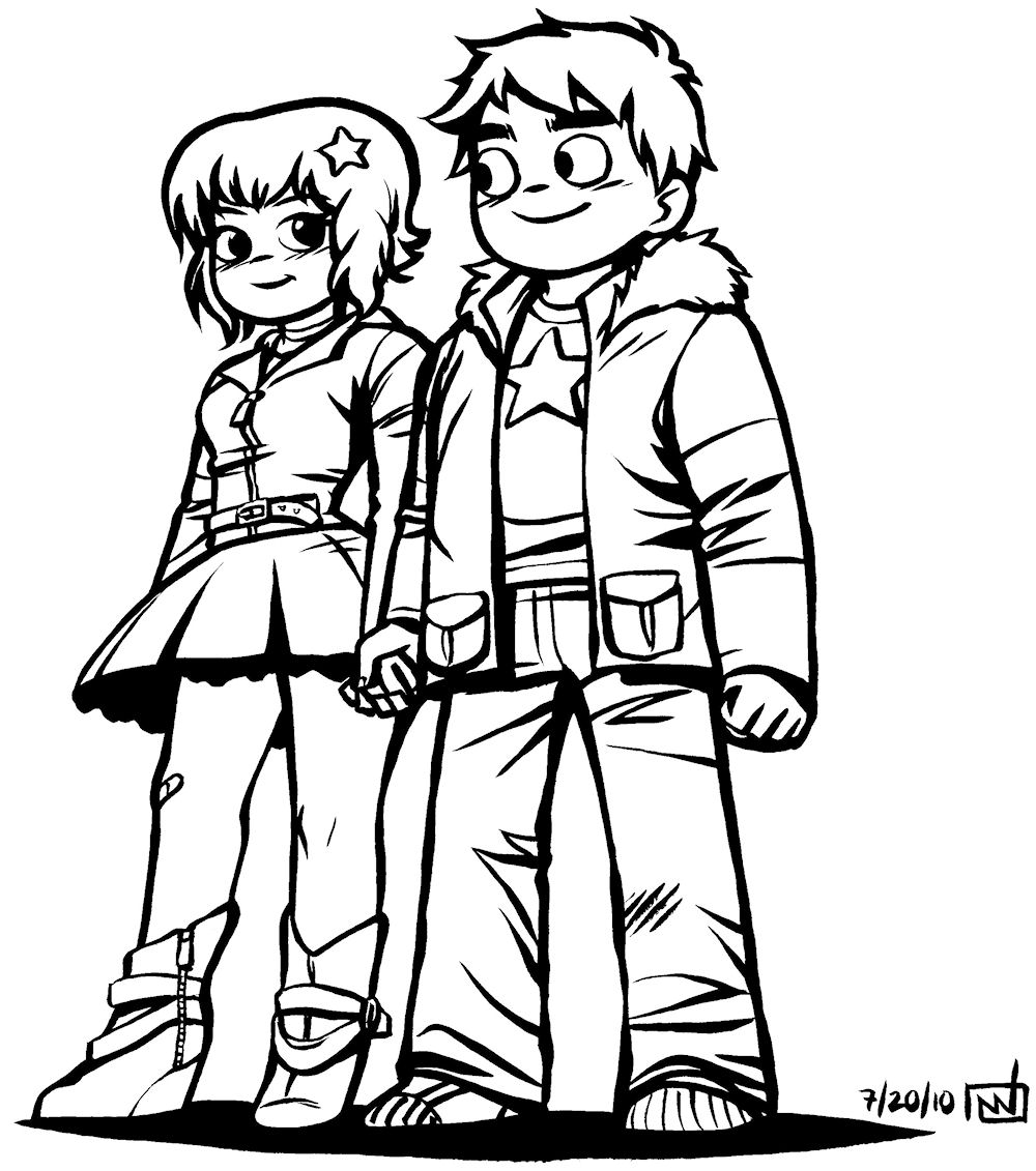 scott pilgrim coloring pages contegri com