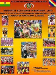 Afiche de la Gran Entrada en Honor al Día de Bolivia y a la Virgen de Copacabana
