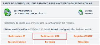 Redirección URL