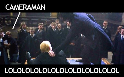 Harry Potter Cameraman : Harry and malfoy duel harry potter and the chamber of secrets