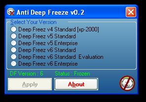 Anti Deep Freeze (Ver. 6.x & Ver 6.6X)