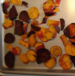 "Sweet Potato & Beet ""Chips"""