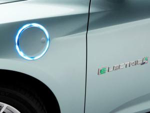 Glowing charging port for Ford Focus Electric