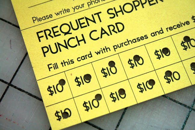 punch card design