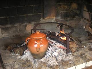 Mis trucos de cocina cordero con patatas comida y cena - Pucheros de barro ...
