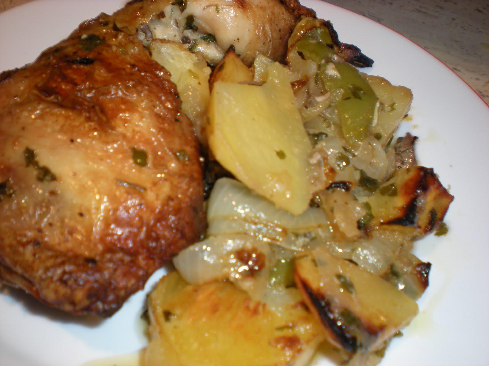 Mis trucos de cocina pollo al horno macerado con lim n - Pechugas de pollo al horno con patatas ...