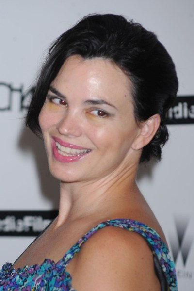 Short Updo Hairstyle with Side Swept Layers - Karen Duffy