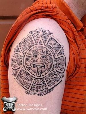 Tattoo japan aztec tattoos for Aztec mural tattoos