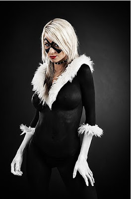 Black Cat Body Painting