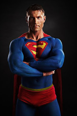 Superman Body Painting